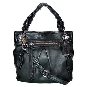 Auth COACH Parker Hippie Crossbody Hobo F13416